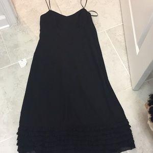 Ann Taylor loft black midi dress size 8 nwt